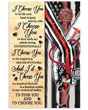 Firefighter - Nurse - C - I Choose You Poster Vertical Poster tile
