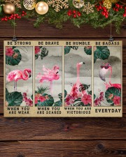 Flamingo - Be Strong 17x11 Poster aos-poster-landscape-17x11-lifestyle-27