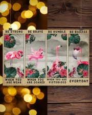 Flamingo - Be Strong 17x11 Poster aos-poster-landscape-17x11-lifestyle-29