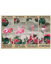Flamingo - Be Strong 17x11 Poster front