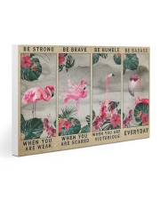 Flamingo - Be Strong 30x20 Gallery Wrapped Canvas Prints thumbnail