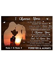 Custom Name I Choose you Gift for Couple 24x16 Poster front