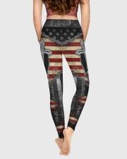 Jesus Cross American Flag High Waist Leggings aos-high-waist-leggings-lifestyle-05