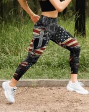 Jesus Cross American Flag High Waist Leggings aos-high-waist-leggings-lifestyle-14