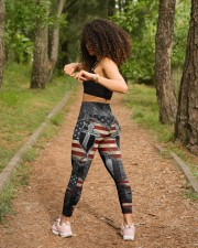 Jesus Cross American Flag High Waist Leggings aos-high-waist-leggings-lifestyle-17