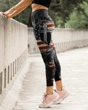 Jesus Cross American Flag High Waist Leggings aos-high-waist-leggings-lifestyle-23