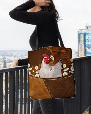 Rooster Daisy Patchwork All-over Tote aos-all-over-tote-lifestyle-front-05