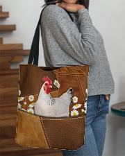 Rooster Daisy Patchwork All-over Tote aos-all-over-tote-lifestyle-front-09