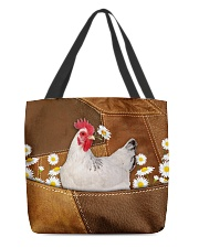 Rooster Daisy Patchwork All-over Tote front