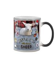 Just A Girl Who Loves Sheep  Color Changing Mug thumbnail