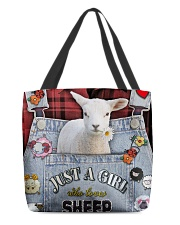 Just A Girl Who Loves Sheep  All-over Tote back