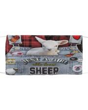 Just A Girl Who Loves Sheep  Cloth face mask thumbnail