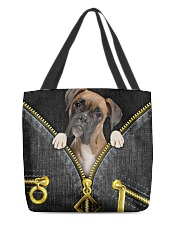Boxer - Denim zipper All-over Tote back