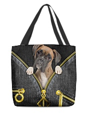 Boxer - Denim zipper All-over Tote front