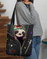 Sloth - Zip - All Tote All-over Tote aos-all-over-tote-lifestyle-front-09