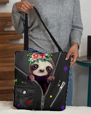 Sloth - Zip - All Tote All-over Tote aos-all-over-tote-lifestyle-front-10