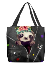 Sloth - Zip - All Tote All-over Tote back