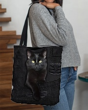 Black Cat Denim All-over Tote aos-all-over-tote-lifestyle-front-09