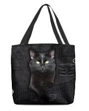 Black Cat Denim All-over Tote back