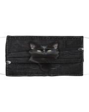 Black Cat Denim Cloth face mask thumbnail