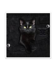 Black Cat Denim Sticker - Single (Vertical) thumbnail