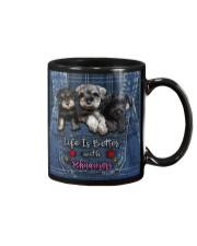 Schnauzer Life Is Bettee Mug tile