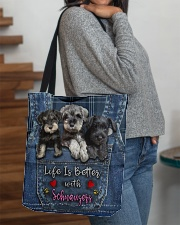 Schnauzer Life Is Bettee All-over Tote aos-all-over-tote-lifestyle-front-09