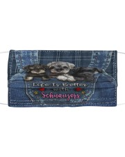 Schnauzer Life Is Bettee Cloth face mask thumbnail
