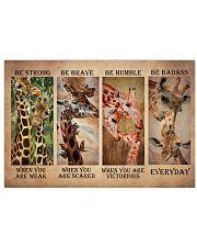 Giraffe Be Strong 17x11 Poster front