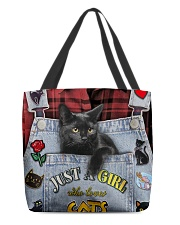 Just A Girl Who Loves Cats All-over Tote back