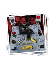 Just A Girl Who Loves Cats Sticker - 4 pack (Vertical) thumbnail
