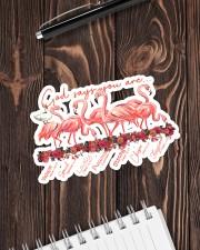 Flamigo God Say You Are Sticker - Single (Horizontal) aos-sticker-single-horizontal-lifestyle-front-05