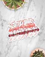 Flamigo God Say You Are Sticker - Single (Horizontal) aos-sticker-single-horizontal-lifestyle-front-06