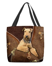 Airedale Terrier  All-over Tote back