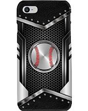 Baseball Metal Leather Like Case Phone Case i-phone-8-case