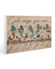 Mermaid - God Says You Are Gallery Wrapped Canvas Prints tile
