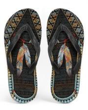 Native American Feather Pattern Flip Flops Men's Flip Flops thumbnail