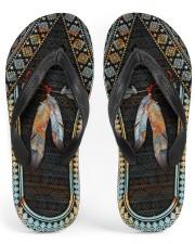 Native American Feather Pattern Flip Flops Women's Flip Flops front
