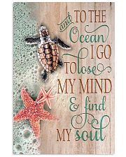And To The Ocean Turtle 11x17 Poster front