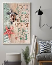 And To The Ocean Turtle 11x17 Poster lifestyle-poster-1