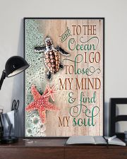 And To The Ocean Turtle 11x17 Poster lifestyle-poster-2