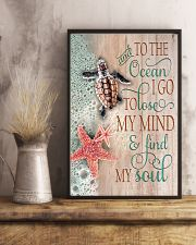 And To The Ocean Turtle 11x17 Poster lifestyle-poster-3