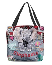 Elephant Lover All-over Tote back