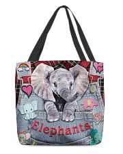 Elephant Lover All-over Tote front