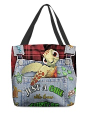Just A Girl Who Loves Turtles All-over Tote front