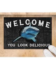 """Shark You Look Delicious Door Mat Doormat 22.5"""" x 15""""  aos-doormat-22-5x15-lifestyle-front-05"""