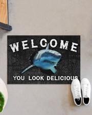 """Shark You Look Delicious Door Mat Doormat 22.5"""" x 15""""  aos-doormat-22-5x15-lifestyle-front-07"""