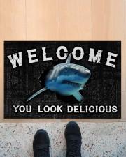 """Shark You Look Delicious Door Mat Doormat 22.5"""" x 15""""  aos-doormat-22-5x15-lifestyle-front-10"""
