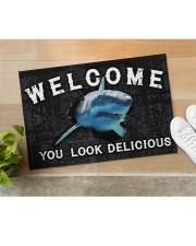 """Shark You Look Delicious Door Mat Doormat 22.5"""" x 15""""  aos-doormat-22-5x15-lifestyle-front-11"""