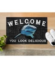 """Shark You Look Delicious Door Mat Doormat 22.5"""" x 15""""  aos-doormat-22-5x15-lifestyle-front-12"""